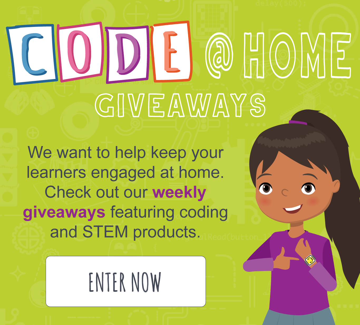 CODE @ Home Giveaways - Enter Now